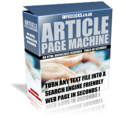 Product picture Article Page Machine + Article + Software